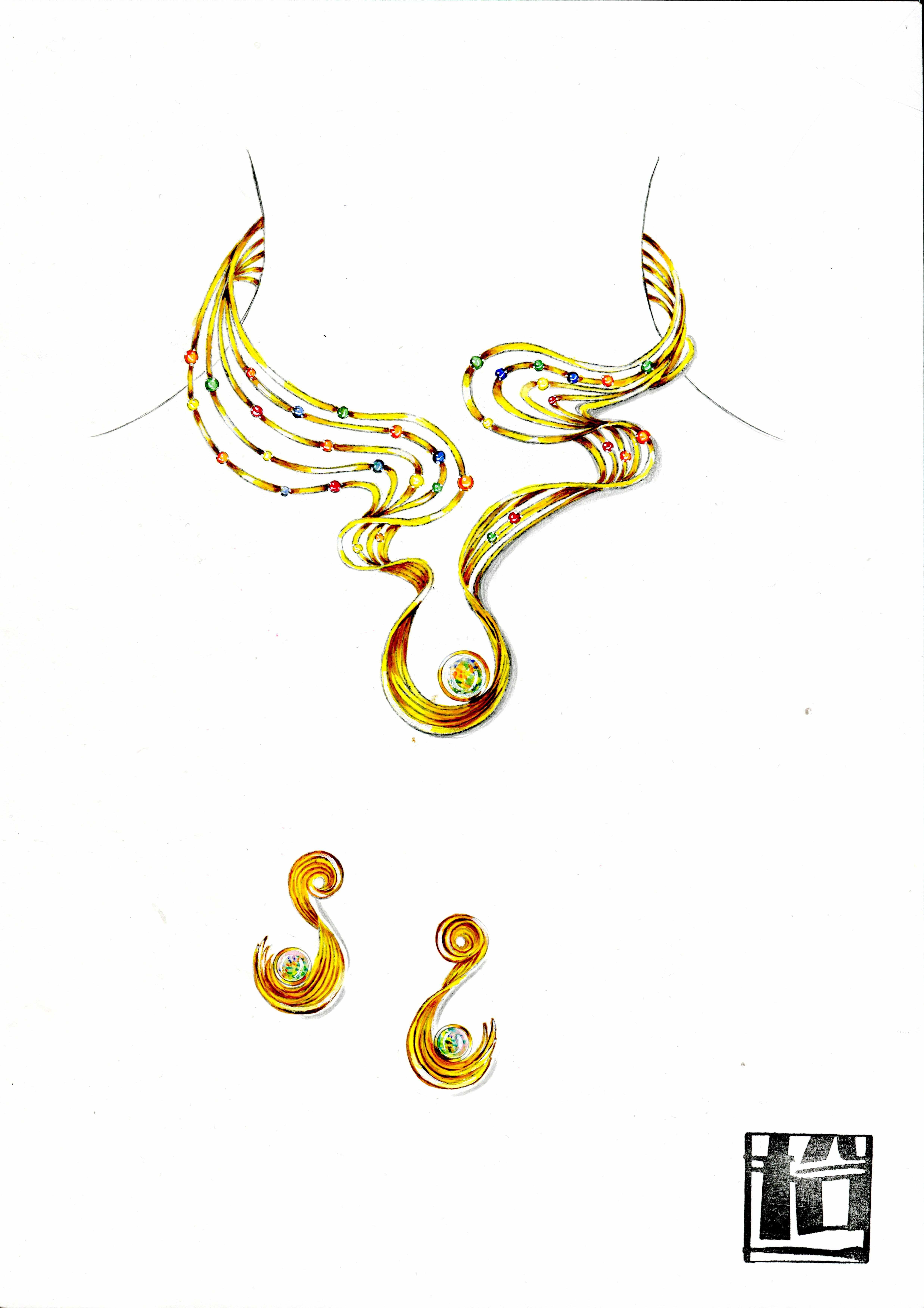 缤彩纷呈:珠宝学院学生首饰设计作品欣赏